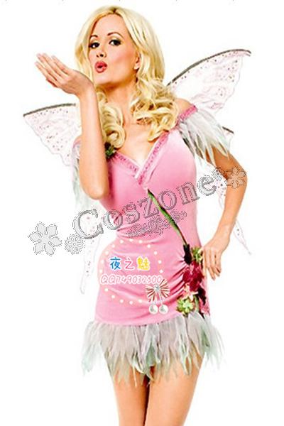 可愛い ピンク系 ディズニー 蝶々風のコスチューム